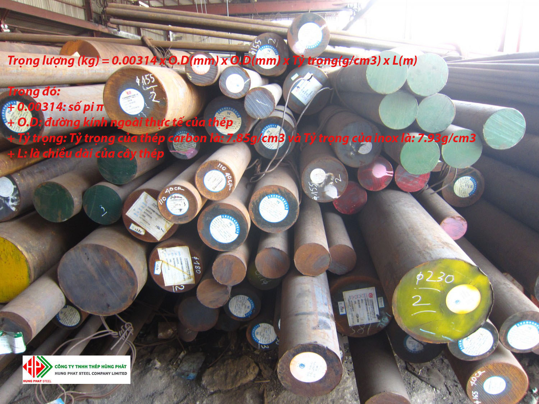 Công thức tính trọng lượng thép ống đặc
