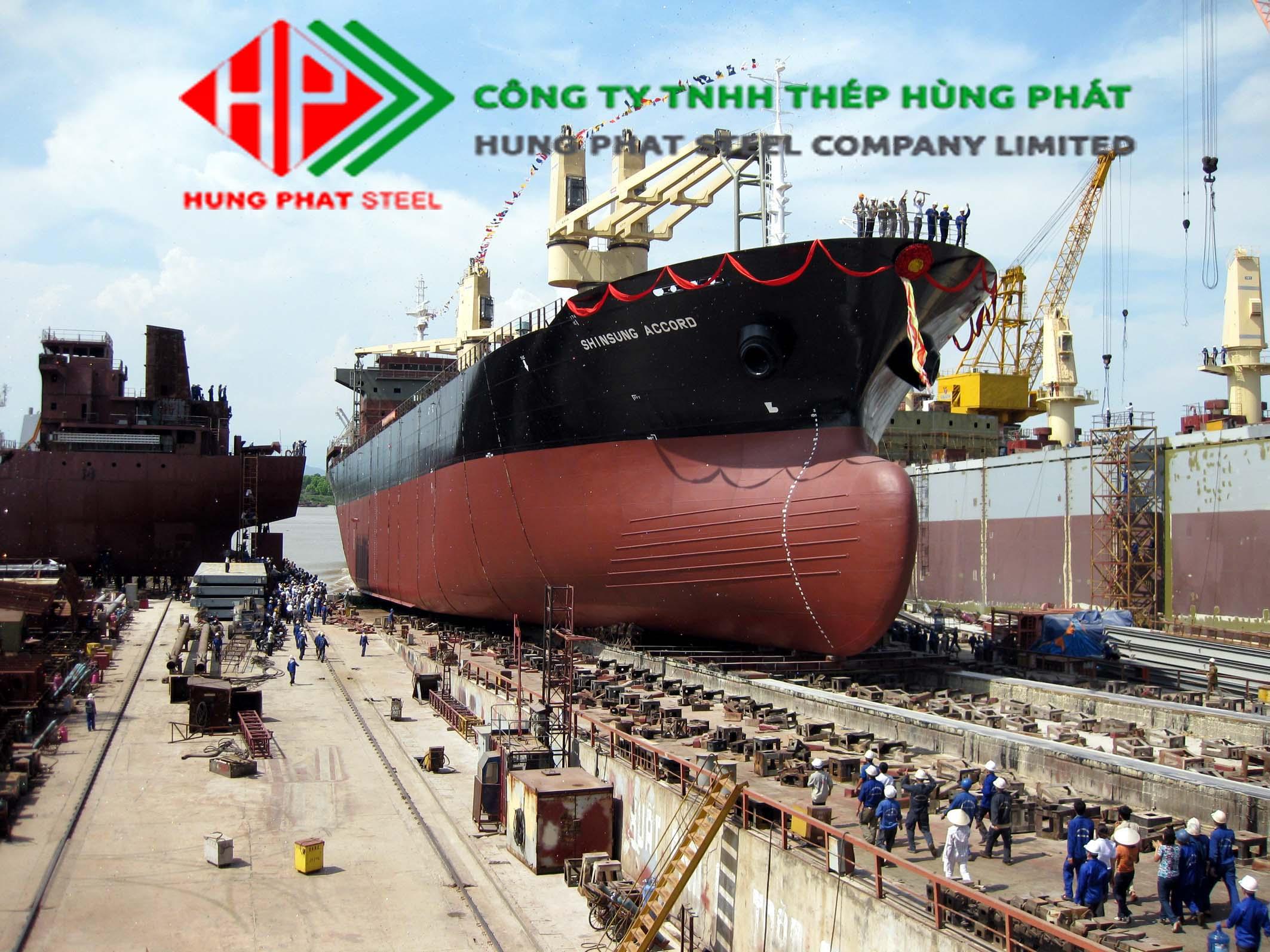 Ứng dụng của kết cấu thép trong Đóng tàu