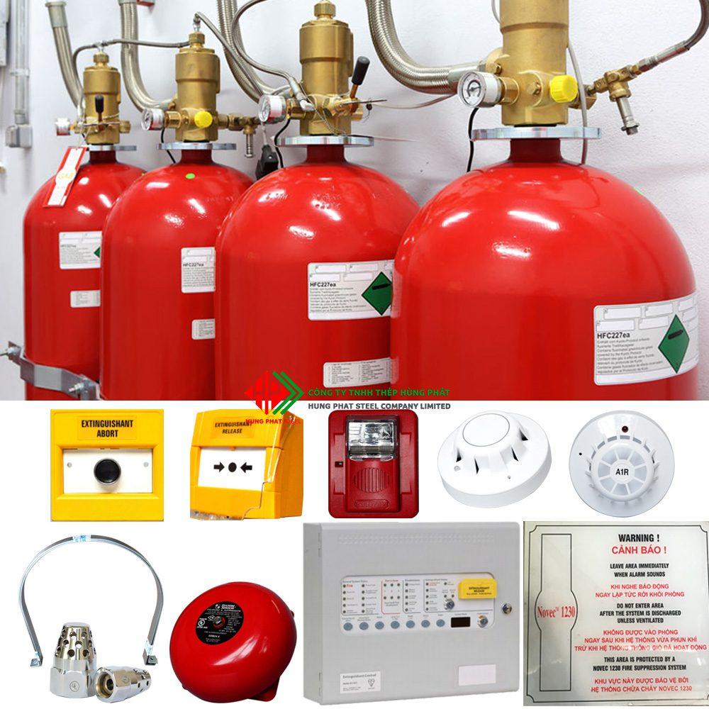 Hệ thống chữa cháy tự động Novec 1230, các hệ thống chứa cháy