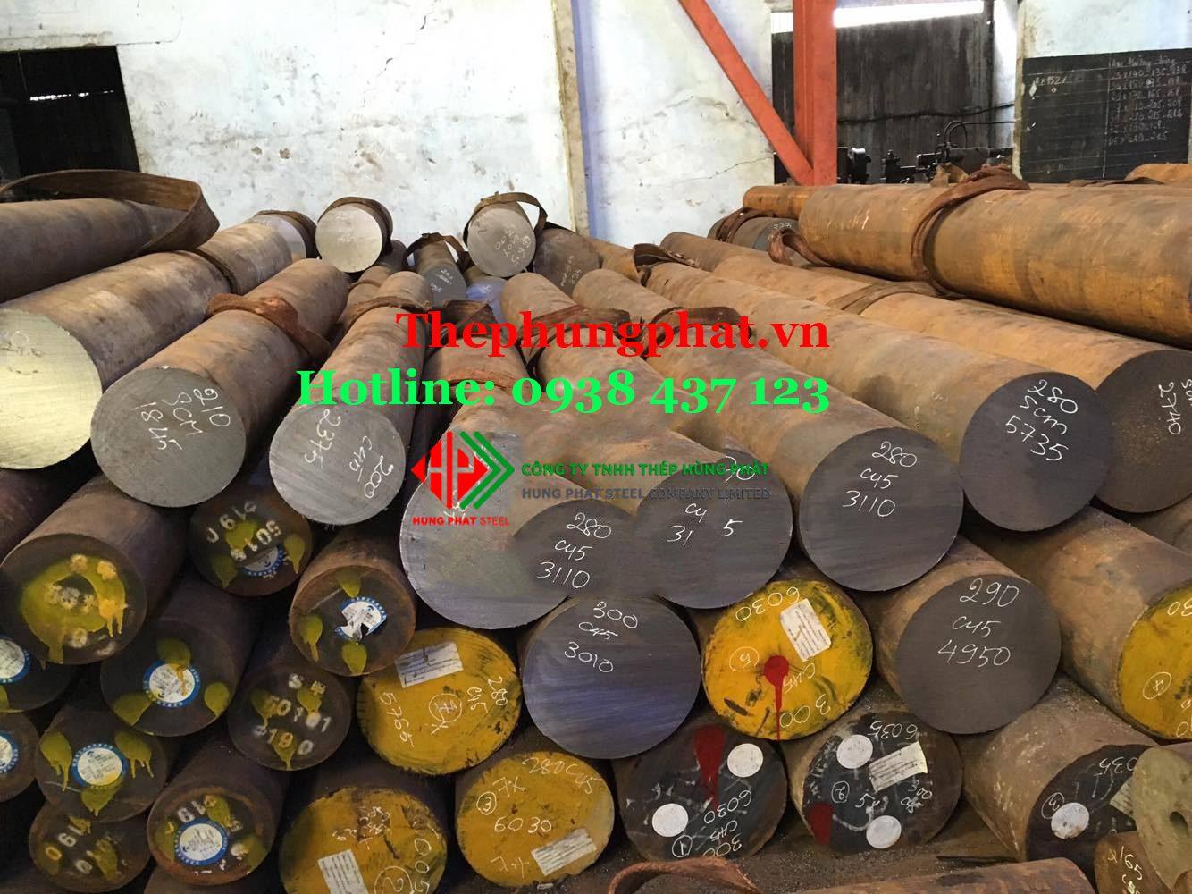 Thép tròn, thép đặc, lap trơn (round bar) từ Ø1 – Ø500 tại Nghệ An