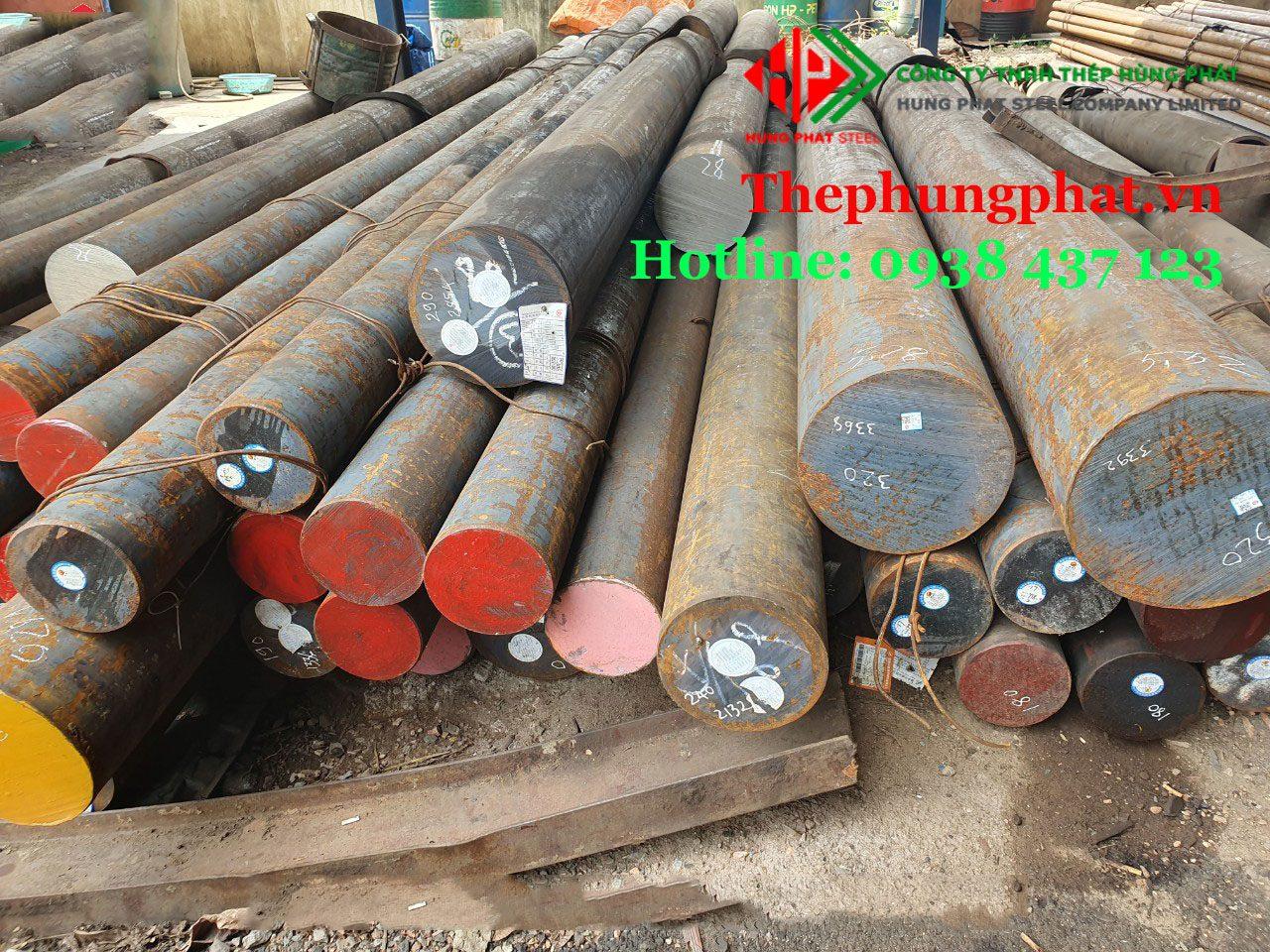 Thép tròn, thép đặc, lap trơn (round bar) từ Ø1 – Ø500 tại Thái Bình